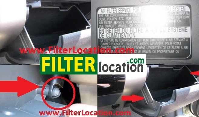 Locate Mitsubishi Endeavor cabin air filter