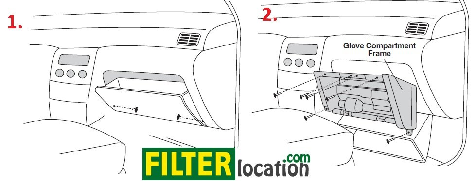 Nissan Pathfinder cabin air filter location