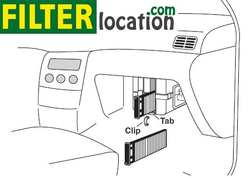 replace 1999-2004 nissan pathfinder cabin air filter