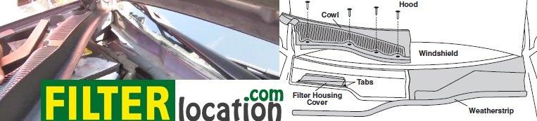 Cadillac SRX cabin filter location