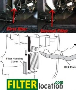 Where is the cabin filter located on GMC Yukon from year 1999 to 2005 | 2005 Gmc Yukon Fuel Filter Location |  | FilterLocation.com