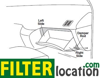 Locate Toyota Solara cabin air filter