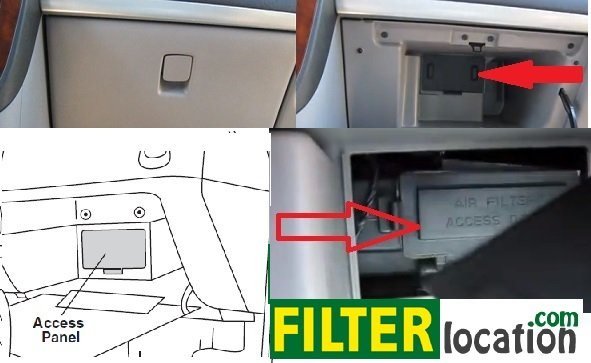 Locate Saturn Relay cabin air filter