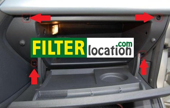 Saturn Astra cabin air filter location