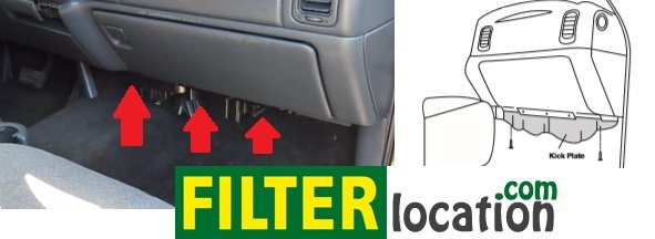 Where is located GMC Yukon XL cabin air filter