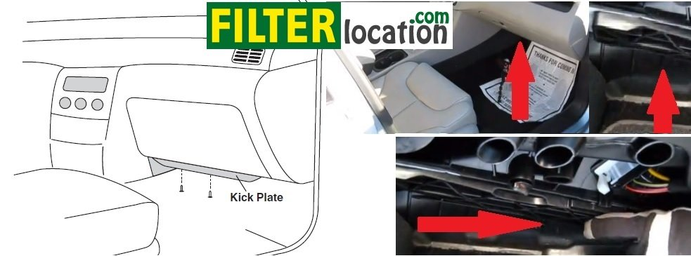 VW Tiguan cabin air filter location