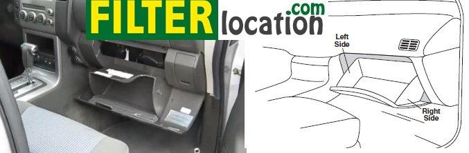 Suzuki Equator cabin air filter location
