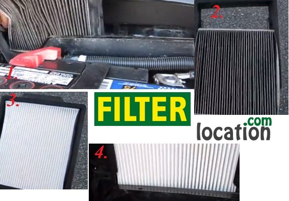 Insert new Ford Mustang cabin air filter