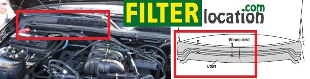 Where is located cabin air filter on a  Ford Mustang