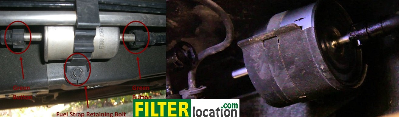 Replace the gasoline filter on a Ford Mustang