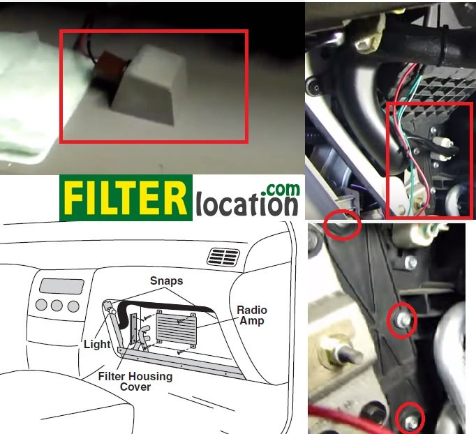 2004-2009 Nissan Quest Cabin Air Filter Location