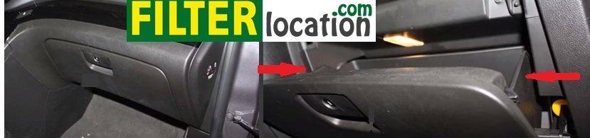 Chevrolet Orlando cabin air fitler location