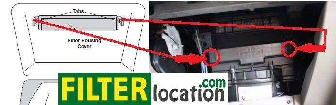 Jeep Patriot cabin air filter location