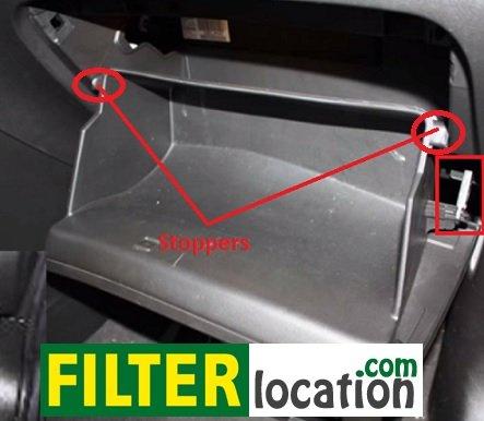 Locate Chevrolet Orlando cabin filter