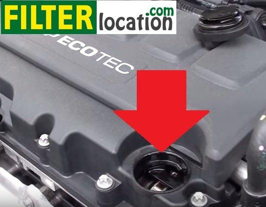 Remove Chevrolet Cruze engine oil fill cap