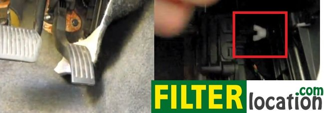Volvo S40 cabin air filter location