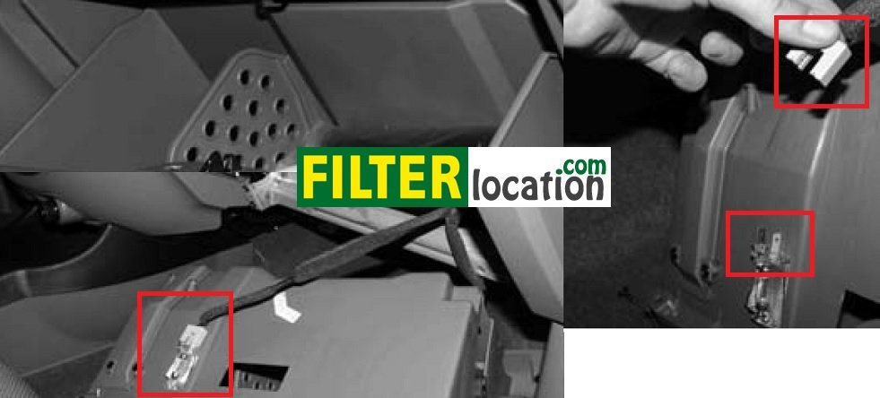 Locate Chevrolet Optra cabin air filter