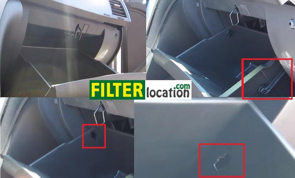 Locate Chevrolet Traverse cabin air filter