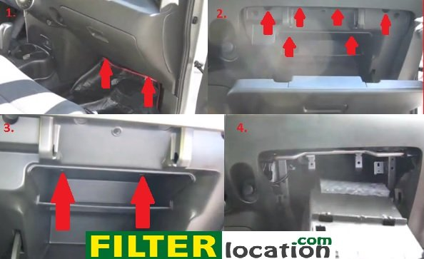 nissan juke gas filter location