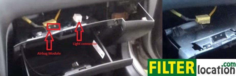 Locate Nissan Maxima 5th generation cabin air filter