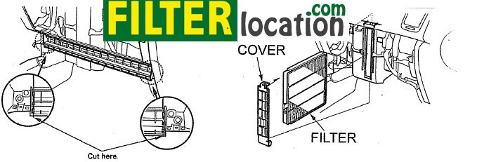 Locate and replace Acura Legend cabin filter