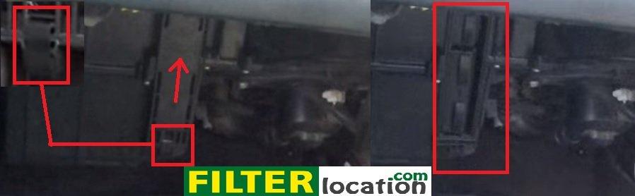 Nissan Maxima 5th generation cabin air filter location