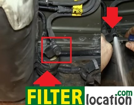 chevy trailblazer fuel filter location