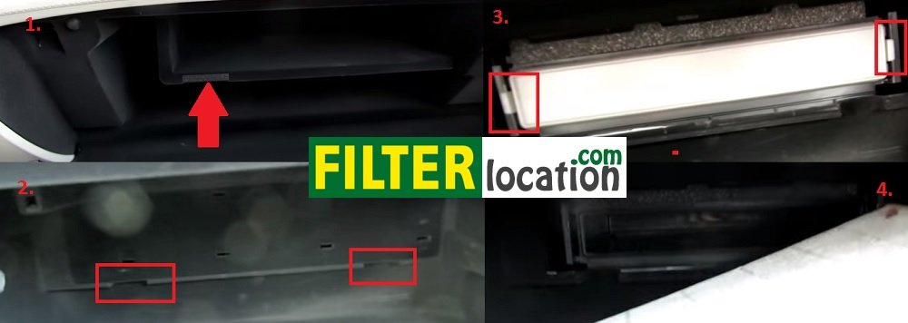 How to locate Acura RLX cabin air filter?