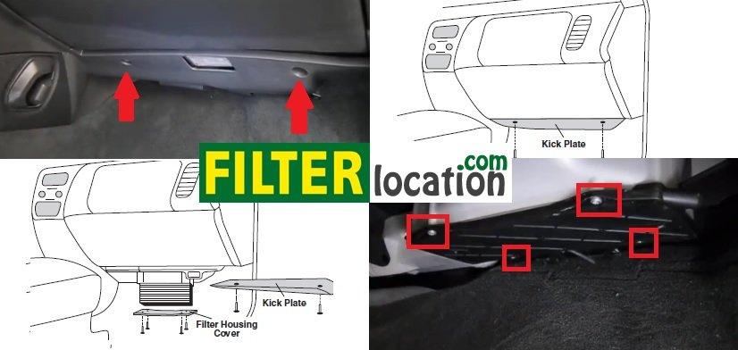 Locate Volvo S60 cabin filter