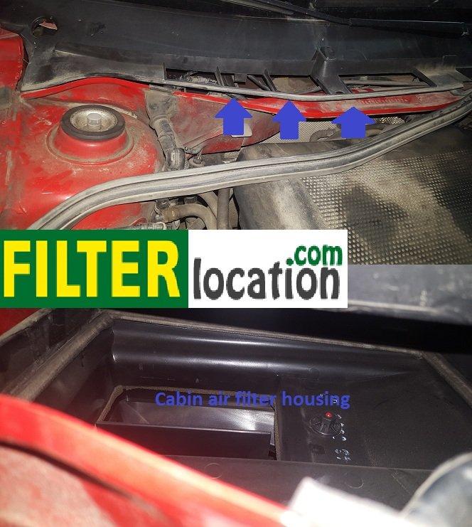 Skoda Octavia Climatronic cabin air filter location