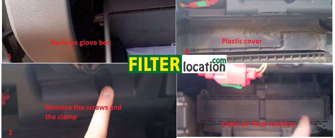 cabin air filter location