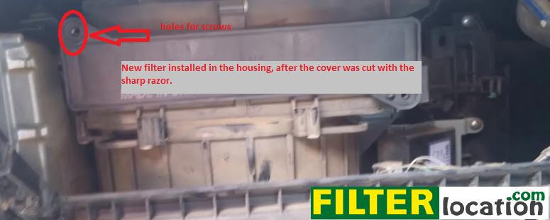 insert new cabin air filter