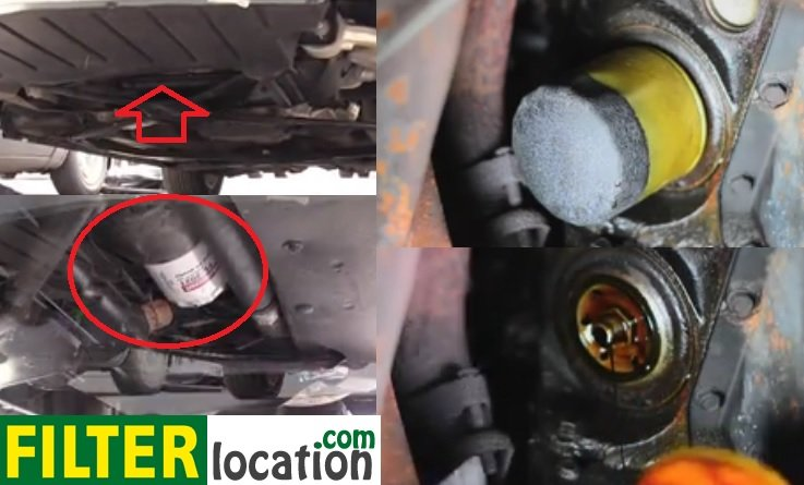 Locate 2002-2005 Ford Thunderbird oil filter and replace it