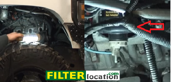 locate and replace the fuel filter on a chevy duramax 2004-2011  filterlocation.com
