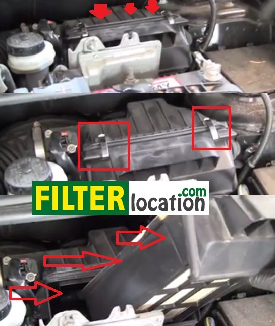 Change 2007-2012 Nissan Sentra air filter