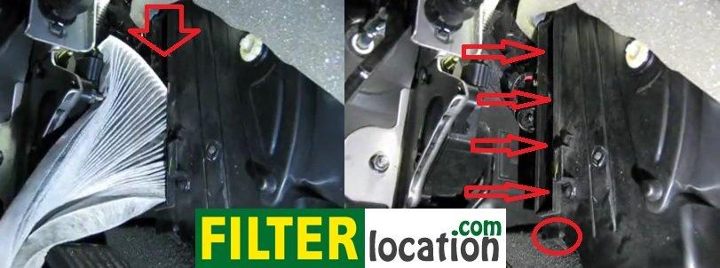 Install Nissan Sentra new cabin air filter