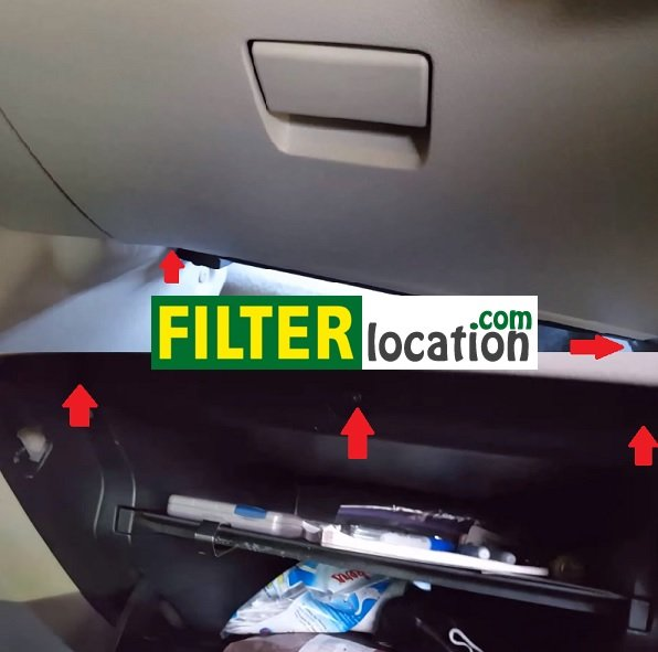Replace the cabin air filter on Nissan Sentra 2013-2015 DYI