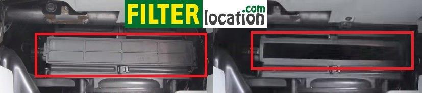 2009-2011 Kia Borrego cabin air filter housing cover