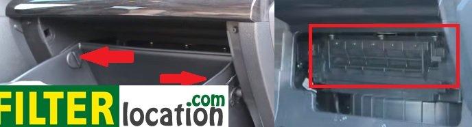 Change 2011-2012 Kia Sorento cabin air filter