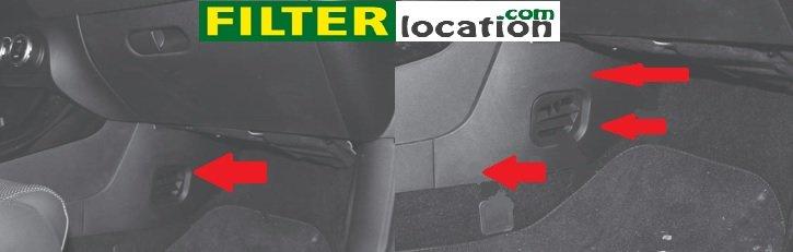 Locate Alfa Romeo Giulietta cabin filter