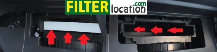 Remove 2011-2012 Kia Sorento cabin air filter