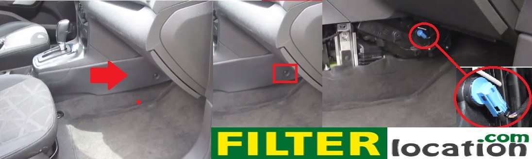 How to change/replace cabin air filter on Ford Fiesta from year 2011, 2012,  2013, 2014 and 2015.FilterLocation.com