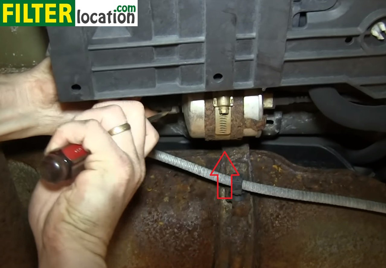 How to change the fuel filter on Ford Escape 2002-2005 FilterLocation.com