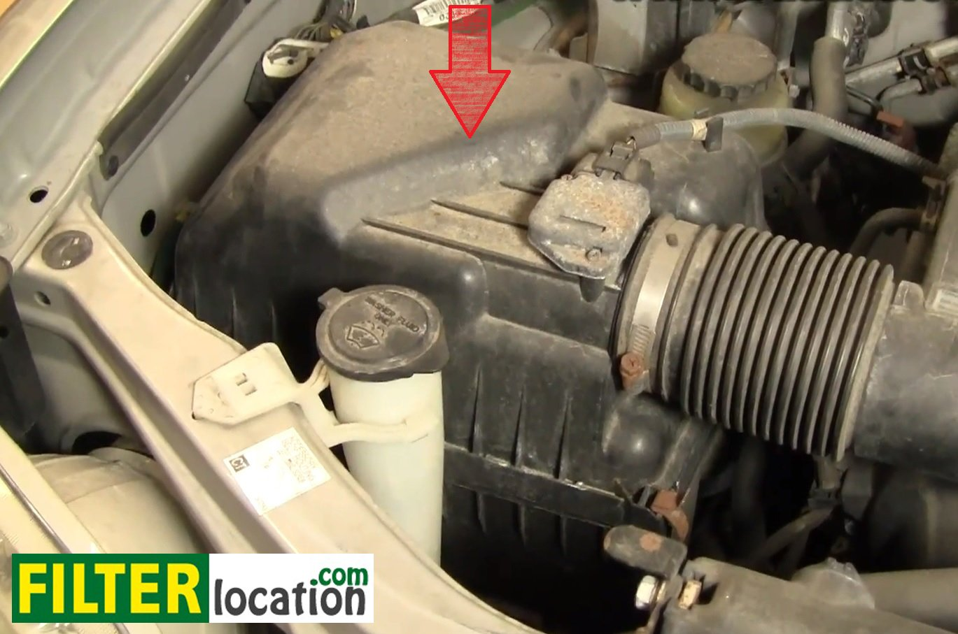 service manual  how to replace air filter in a 2004