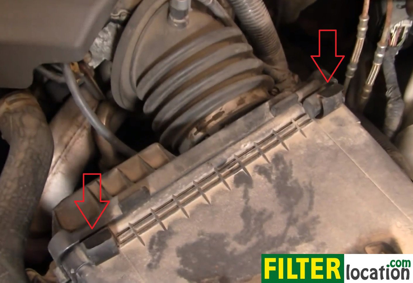 Remove The Clamps Holding The Air Box Lid On Buick Lesabre on 2005 Buick Lesabre