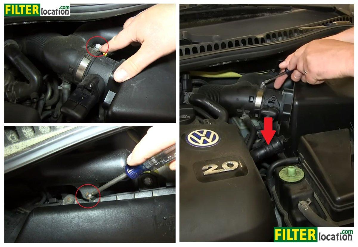 DIY, change the air filter on Volkswagen BeetleFilterLocation.com